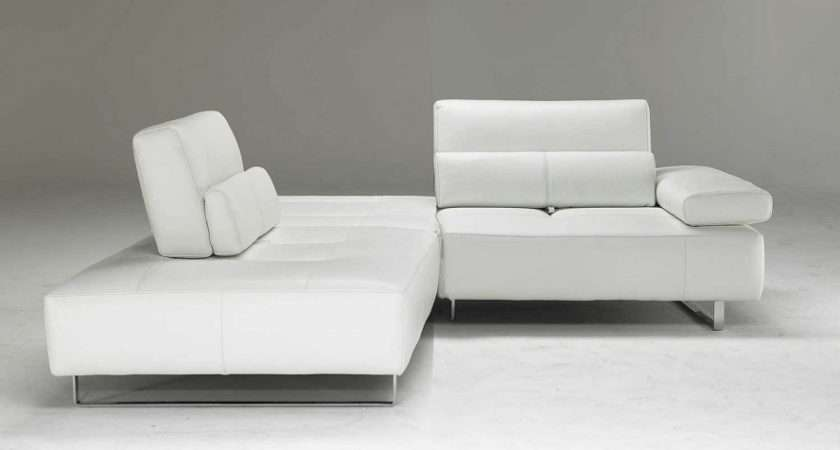 Sofa White Casual Small Sectional Modern Style Stunning