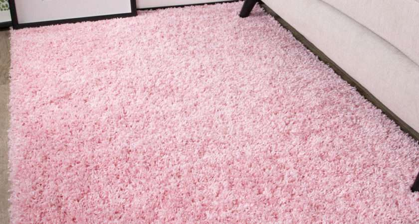 Soft Fluffy Thick Kids Pink Shaggy Rugs Baby