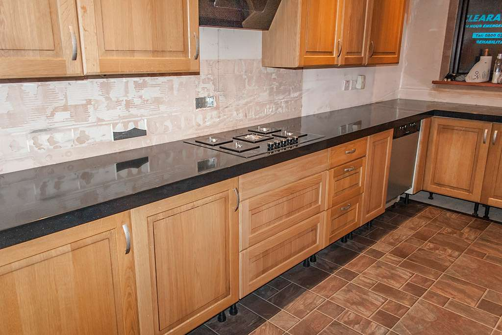 Solid Surface Kitchen Worktop Installed Upshire