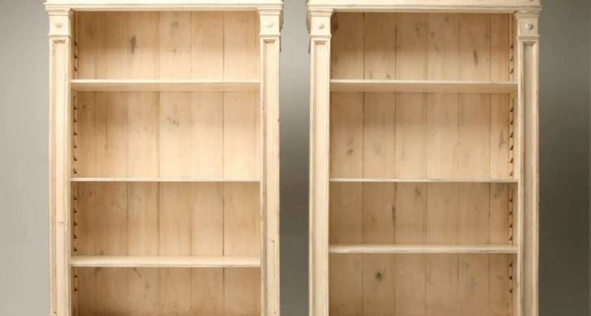 Solid Wood Bookcase Elegant French Country Style Bookcases