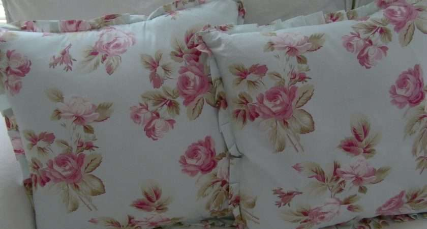 Some Shabby Chic Pillows Out Real Fabric