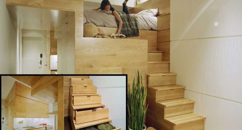 Space Saving Ideas Small Bedroom Elevated Loft Saver