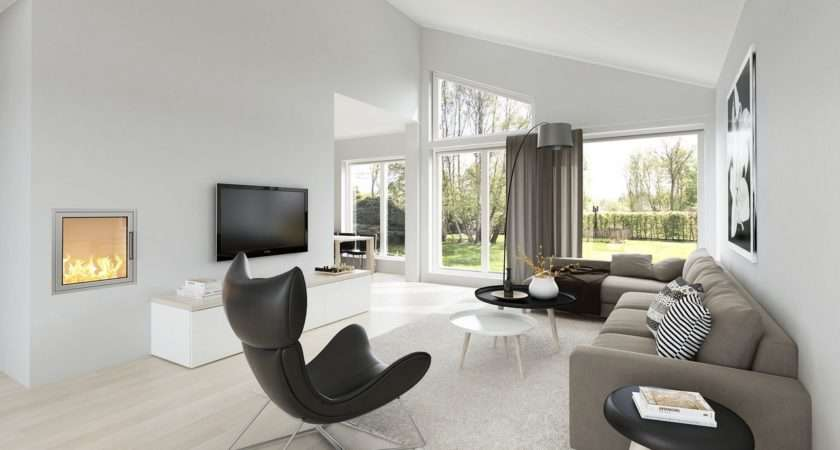 Spacious Modern Living Room Interiors