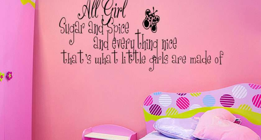 Spice Little Girls Room Vinyl Wall Quote Decal Home Decor Sticker