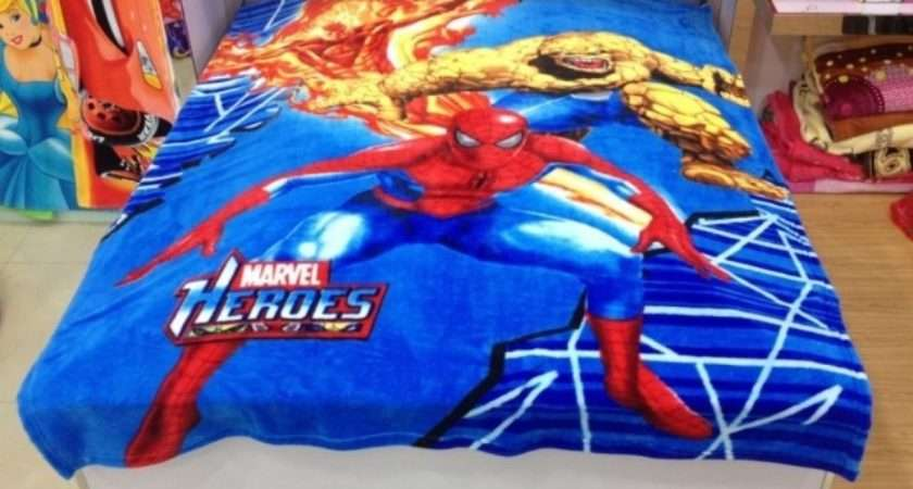 Spiderman Fleece Blanket Throw Blankets Beds