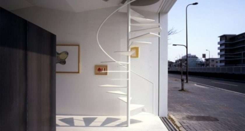 Spiral Design Staircase Small Spaces Home Style