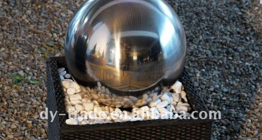 Stainless Steel Ball Water Feature Buy Outdoor Features Garden