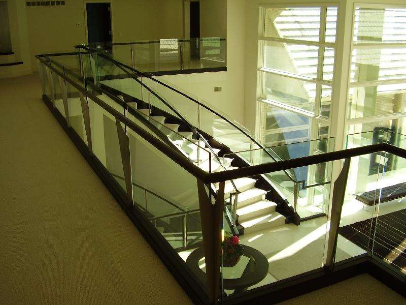 Stairs Curved Glass Panels