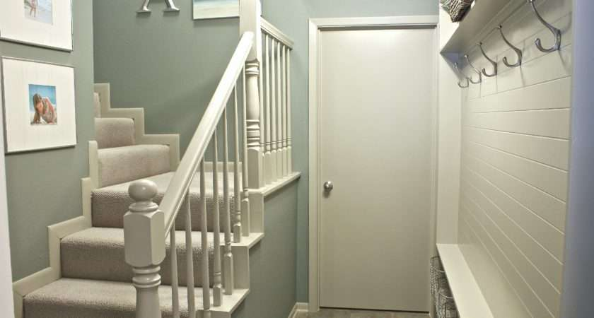 Stairwell Mudroom Revamp Before After