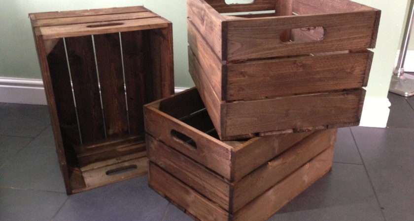 Standard Three Panel Wooden Crates Great