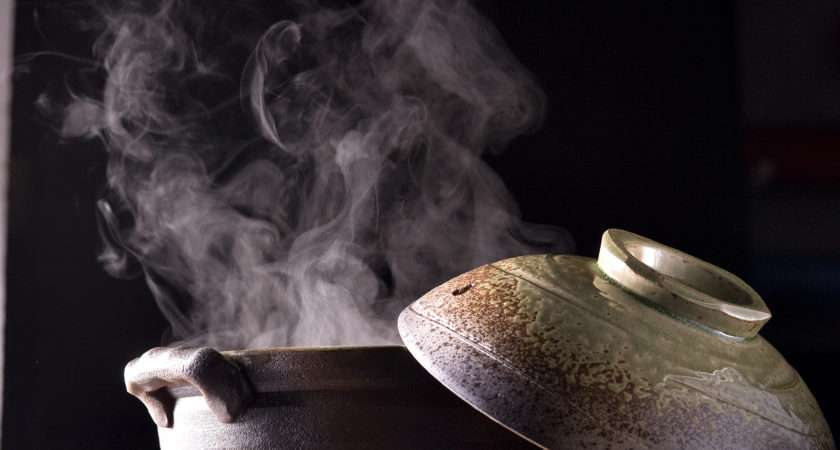 Steaming Hot Water Pot