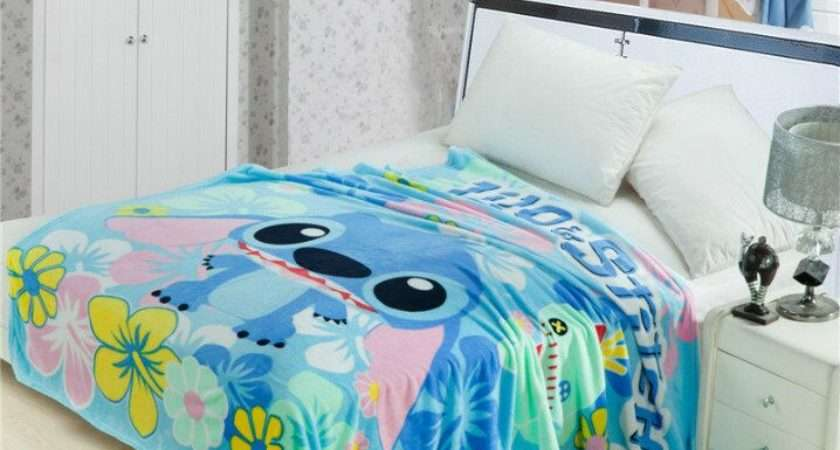 Stitch Floral Printed Blankets Throws Bedding