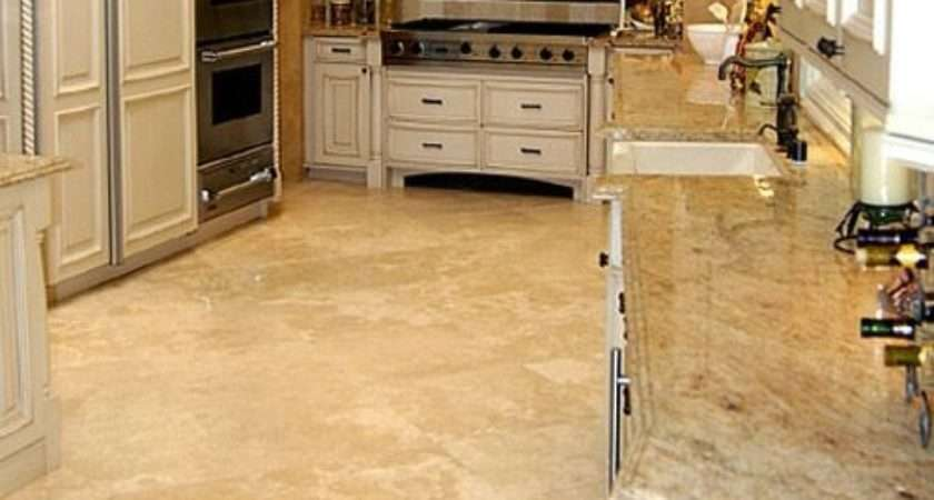 Stone Flooring Kitchen Bringing Traditional