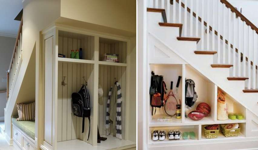 Storage Ideas Under Stairs Hallway