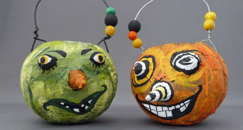 Store Crafts Blog Archive Make Crazy Papier Mache Pumpkins