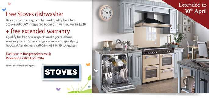 Stoves Dishwasher All Range Cookers April Home