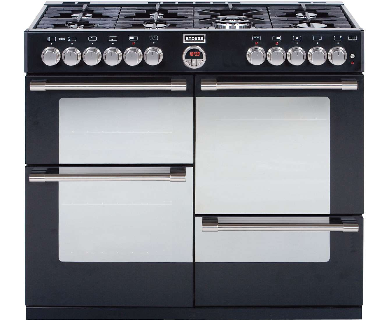 Stoves Sterlingr Freestanding Gas Range Cooker Black