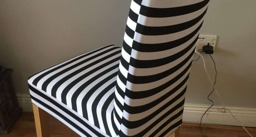 Striped Dining Chair Covers Black White Damask Stripe