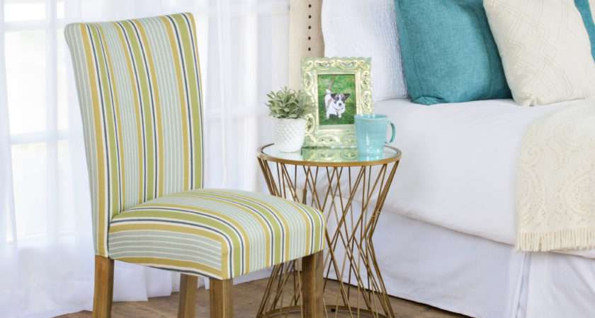 Striped Dining Chair Covers Echo Stringa