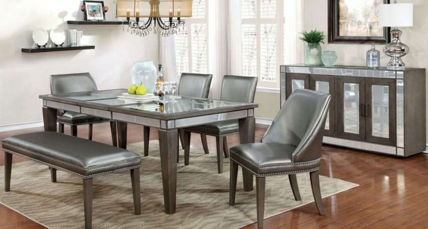 Sturgis Dark Gray Extendable Rectangular Dining Table