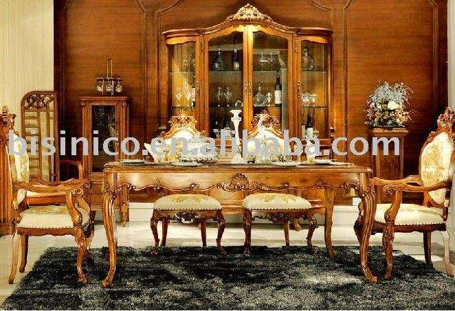 Style Dining Room Set Luxury Furniture Country