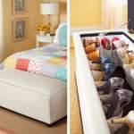 Stylish Storage Ideas Small Bedrooms Traditional Home