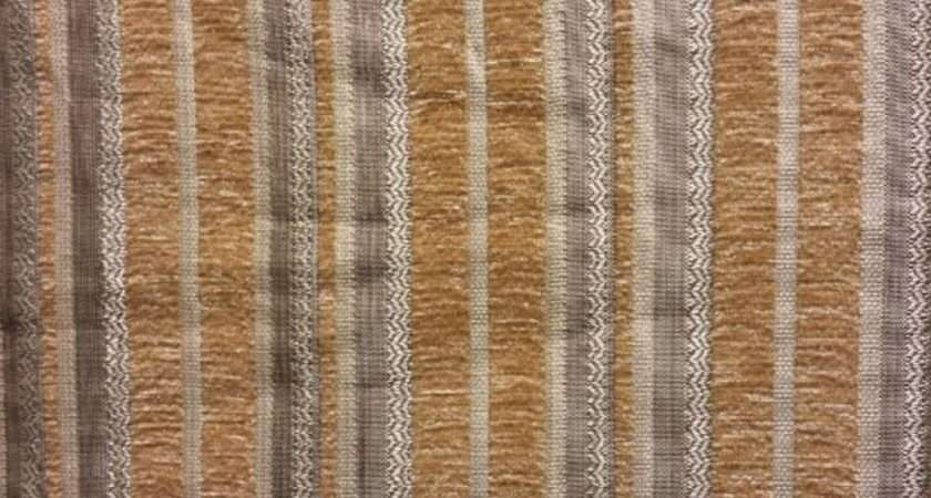 Sugar Stripe Chenille Upholstery Drapery Fabric Yard Wide