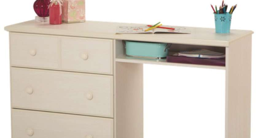Summer Breeze Rustic Country Desk Drawers White Wash Desks