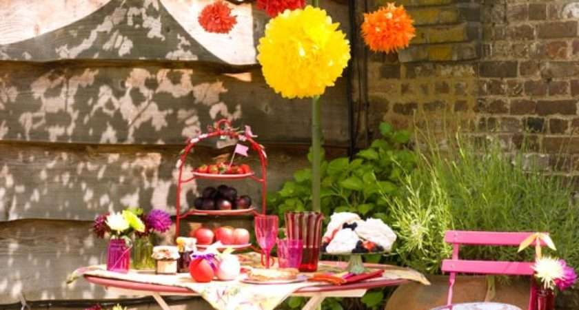Summer Garden Party Table Decorating Ideas Exotic Colors