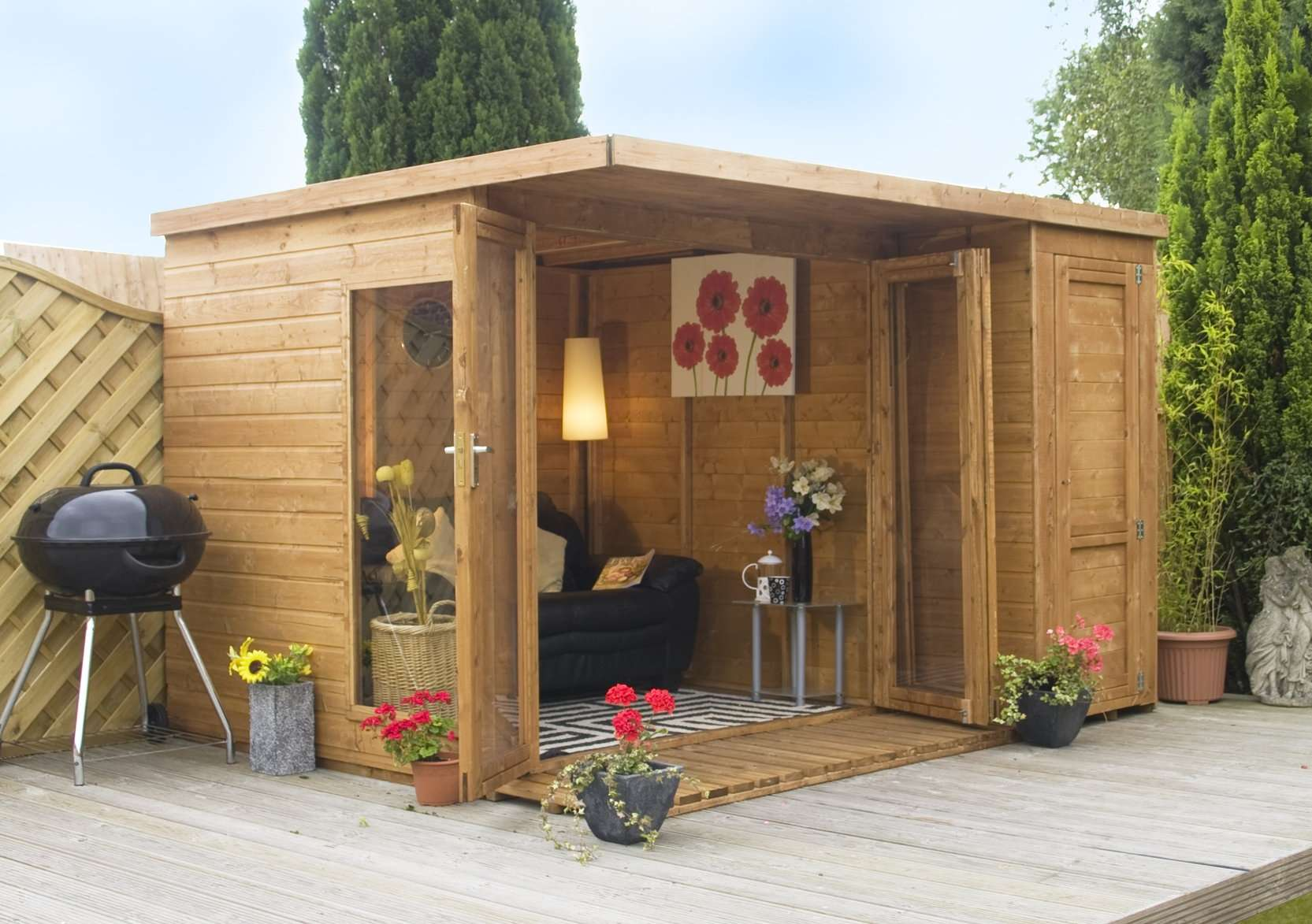 Summer Houses Garden Room Side Shed Sheds