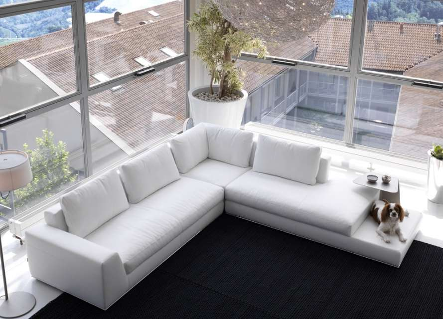 Summer Leather Corner Sofa Modular Sofas Modern Furniture