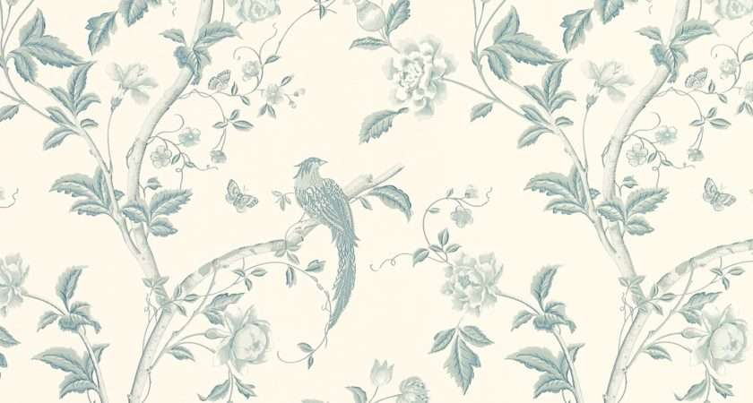 Summer Palace Off White Duck Egg Blue Floral Laura Ashley
