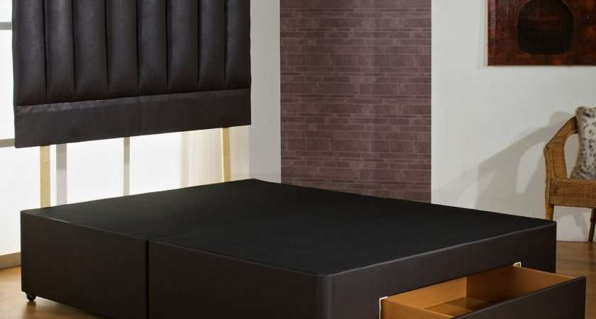 Super Fast Delivery Brown Faux Leather Bed Base