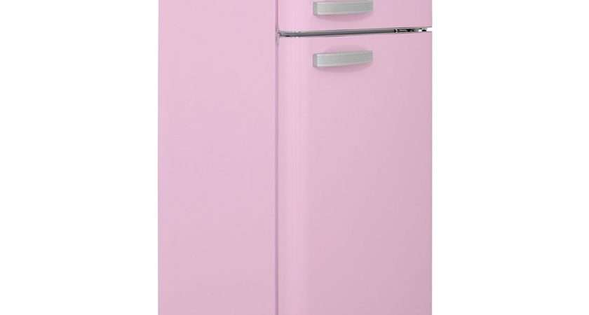 Swan Fridge Freezer Pink Retro