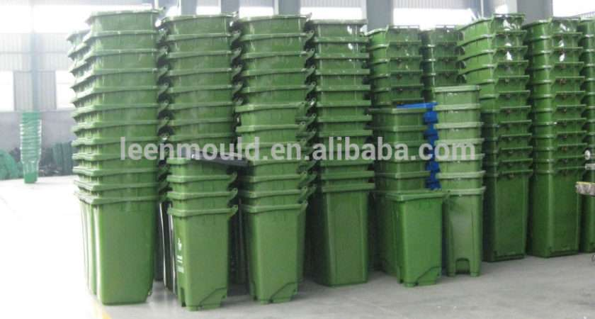 Taizhou Red Outdoor Plastic Trash Can Kitchen Waste Bins Two