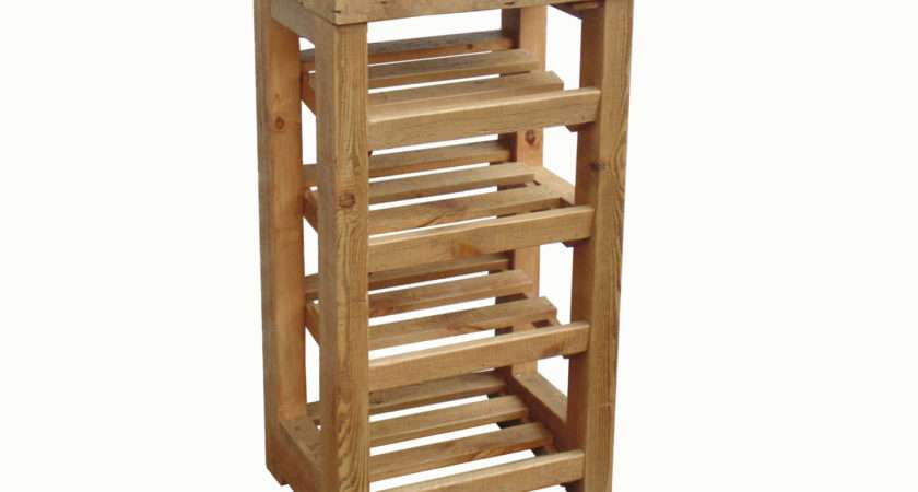 Tall Boy Rustic Wooden Shoe Rack Chunky Captainscraftworks
