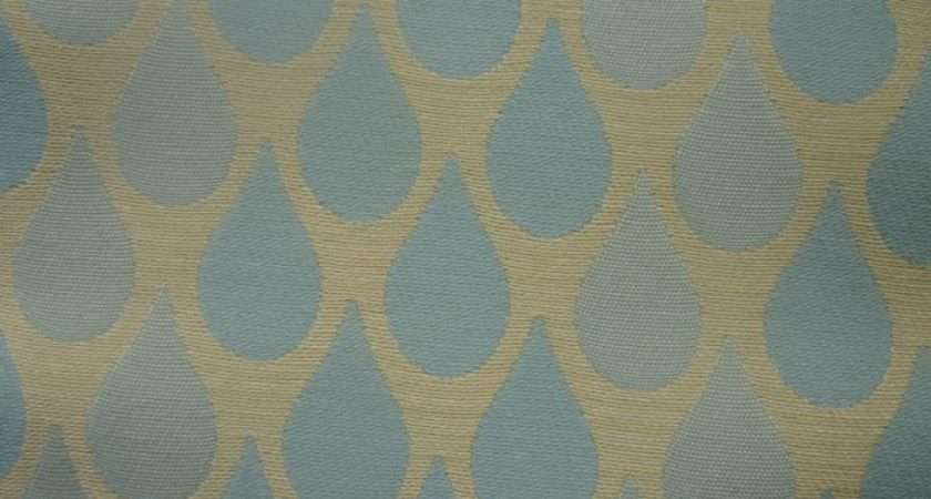 Teardrop Sold Out Monkwell Blue Curtain Fabric