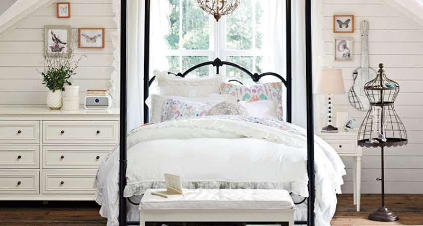 Teenage Girl Bedroom Ideas Four Poster Canopy Bed Pbteen