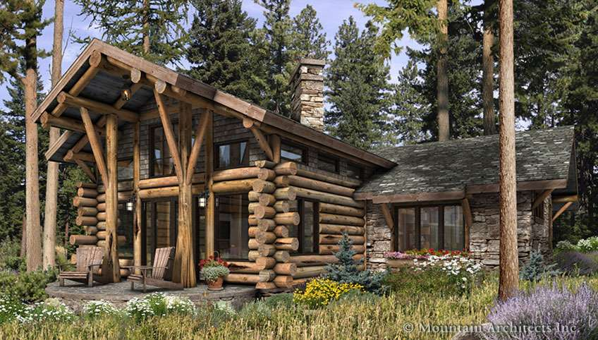 Telluride Log Cabin Home Rustic Luxury Cabins Plans
