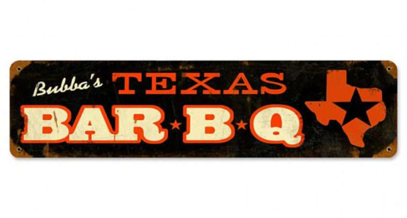 Texas Barbecue Bar Metal Sign American Made Vintage Style Man Cave