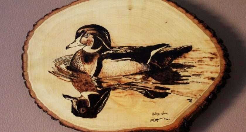These Make Great Gifts Made Wood Burned Duck Dad