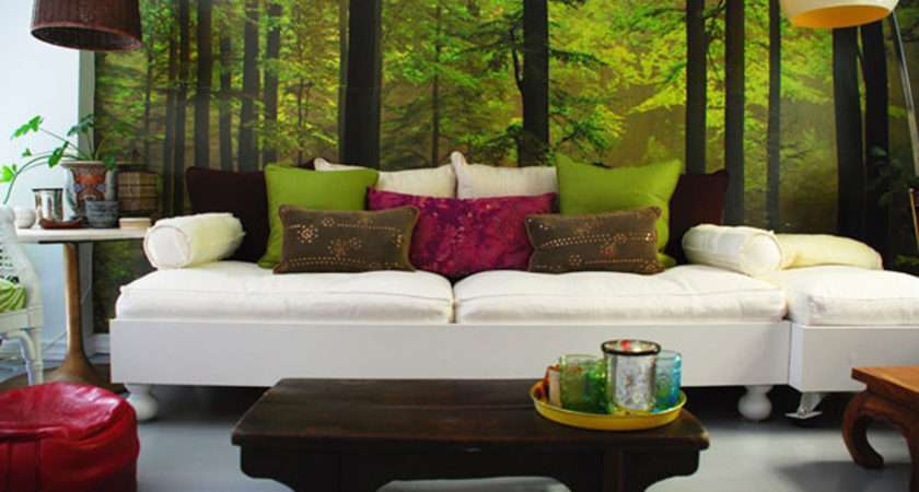 Total Green Nature Decorations House Interior Decor