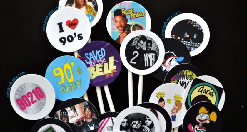 Totally Awesome Cupcake Toppers Theme Party Cake