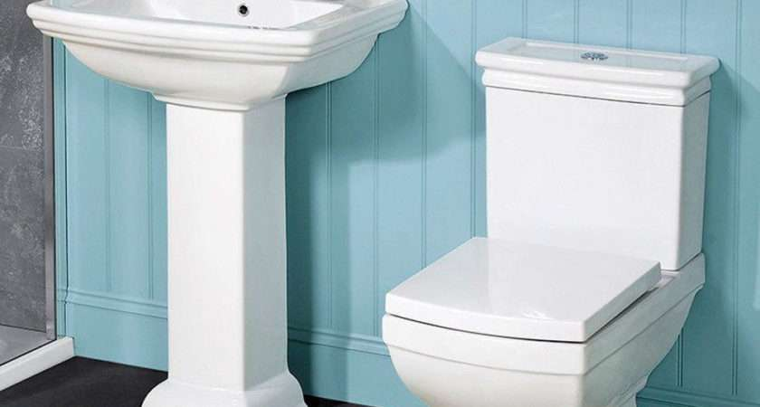 Traditional Bathroom Suite Two Piece Toilet Basin Sink