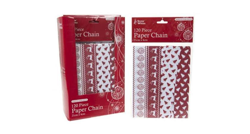 Traditional Christmas Paper Chain Piece Pack Xmas Decorations