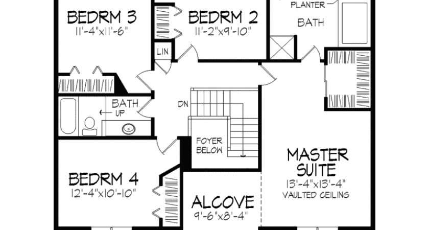 Traditional House Plan Second Floor Plans More