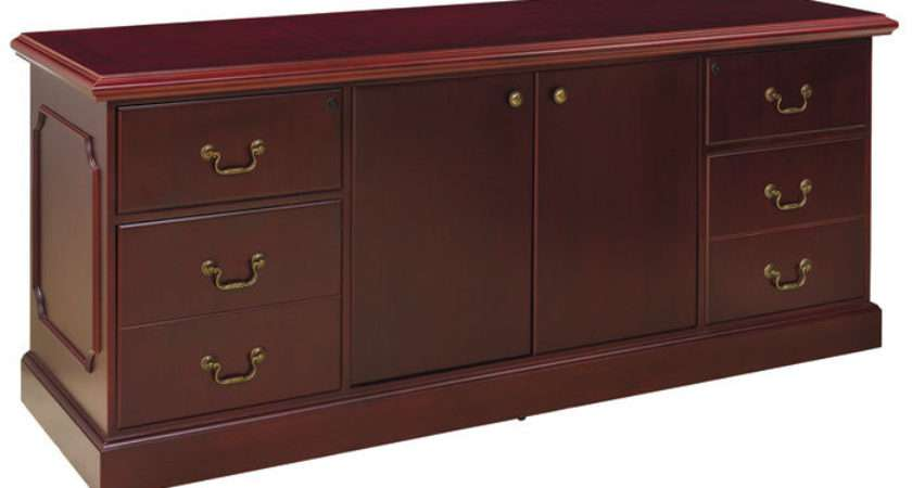 Traditional Office Credenza Storage Cabinet Conference Meeting Room