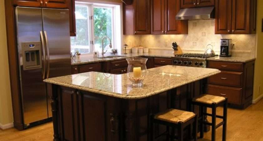 Traditional Shaped Island Kitchen Design Ideas Remodels Photos