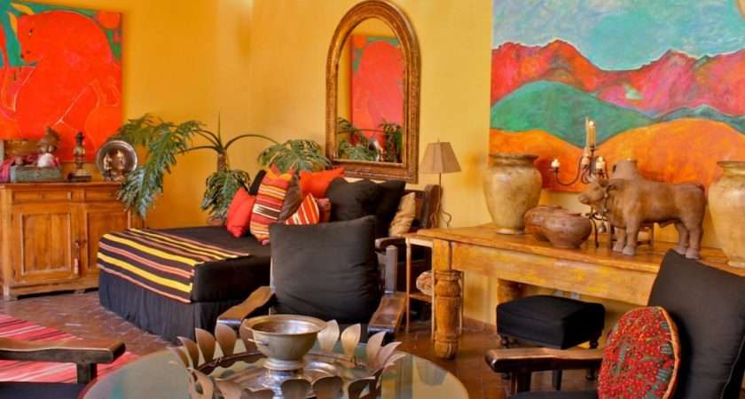 Traditional Staircase Mexican Style Home Decor