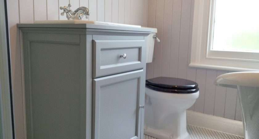 Traditional Towel Heater Wooden Panelling Vanity Unit